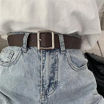 Curea din piele, Cataramă pătrată Jeans Belt