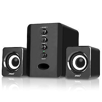 Black Mini USB Wired Speaker Speaker Home Theater Stereo Subwoofer Notebook Speaker