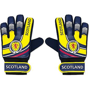 Scotland Boys Gloves Goalie Goalkeeper Kids Youths OFFICIAL Football Gift