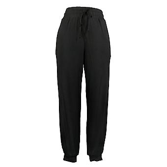 Anyone Tall Cozy Knit Jogger W/ Banded Cuffs Faux Fly Black A345519
