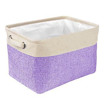Pet Dog Toy Storage Basket Foldable Pet Toys Linen Storage Box Canvas Bag Pet Supplies