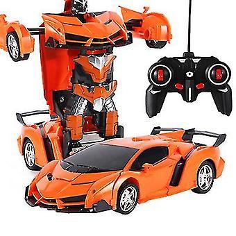 Orange Fernbedienung Verformung Roboter Polizei Auto Fernbedienung Spielzeug Kinder aufladen Spielzeug az6758