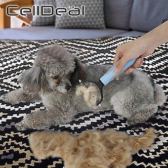 Hårfjerning kam til hunde kat detangler pels trimning dematting deshedding børste grooming værktøj til sammenfiltrede langt hår krøllet kæledyr