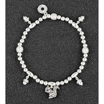 Land Eichhörnchen Eicheln Silber vergoldet Armband