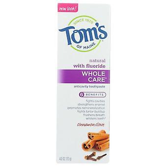 Tom's Of Maine Wholecare Toothpaste, Clove 4 Oz