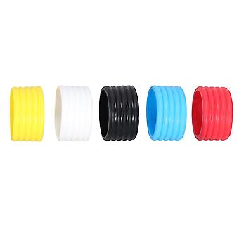 5pcsテニスラケットグリップバンドスーパー吸収テニススカッシュリングホールドオーバーグリップ所定の位置(黄色、赤、青、黒、白、各色のための1pc)