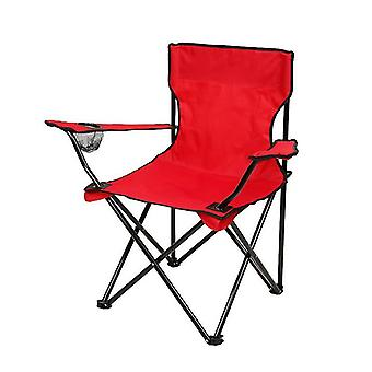 Red outdoor portable folding chair for camping barbecue picnic fishing travel az10632