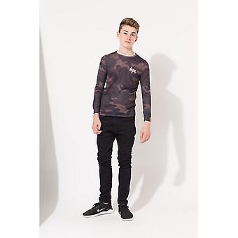 Hype Childrens/Kids Camo Sporting Long Sleeve T-Shirt
