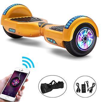 "Stuff Certified® Electric E-Scooter Hoverboard Bluetooth-kaiuttimella - 6,5"" - 500W - 2000mAh Akku - Balance Hover Board Gold"