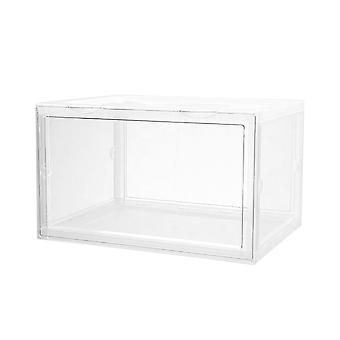Magnetic Drop Front Shoe Box Storage Container Transparent And Dust Proof (au Stock)
