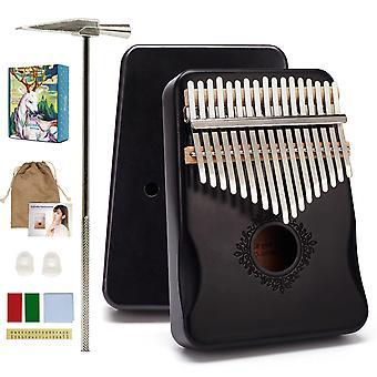 17 Keys kalimba thumb piano high quality wood mahogany mbira body musical instruments