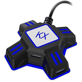 KX Mouse Teclado Tipo-c Conversor de adaptador para Switch Xbox PS4 Gamings Gamepad