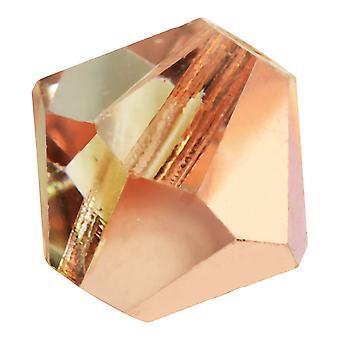 Preciosa Czech Crystal, Bicone Bead 6mm, 24 Pieces, Crystal Capri Gold
