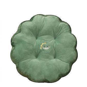 Round Cushion Computer Office Chair Cushion(Green)