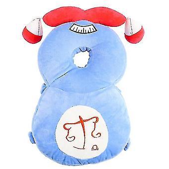Hovedbeskytter til babyjusterbar sikkerhedspuderygsækpude antifaldpudehoved (blå2)