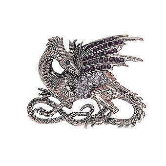 Retro corsage oceán série dragon dámy brož rhinestone inlaid brož pin