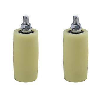 Pulleys, blocks sheaves 2pcs pp steel roller guiding wheel m12 for industrial supplies 5x10cm