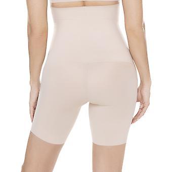 Miraclesuit Shapewear Comfy Curves 2519 Women's Warm Beige High Waist Long Leg Brief