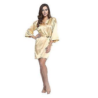 Satin Bridesmaid Robes Faux Silk Bridal Sisters Dressing Bathrobes