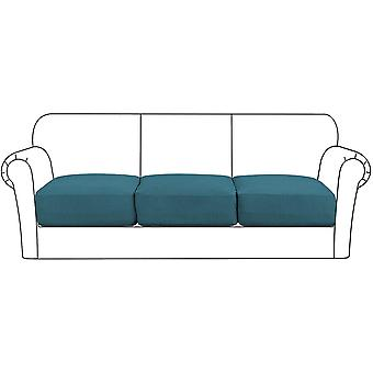 High stretch seat cushion cover sofa cushion furniture protector with elastic bottom for 1/2/3 seater, dark teal
