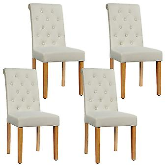 Set Of Dining Chair Parsons Upholstered Fabric Chair With Wooden Legs
