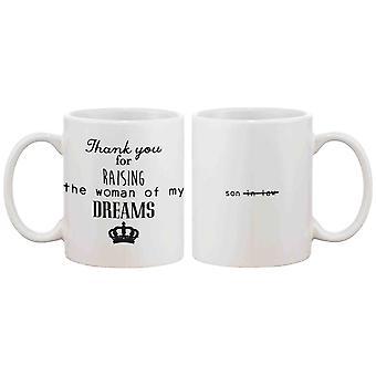 Lustige Keramik Kaffeebecher für Papa - vielen Dank für die Erhöhung der meine Traumfrau, Vatertag Geschenk für Vater 11oz Mug