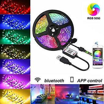 5V usb led strip lights 5050 rgb bluetooth app control dimmable tv back lighting smart strips
