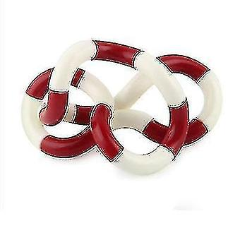Stuffed doll stress relief fidget roller twist finger decompression ring vent red/white sa7652