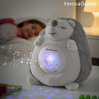Puppets marionettes hedgehog soft toy with white noise and nightlight projector spikey