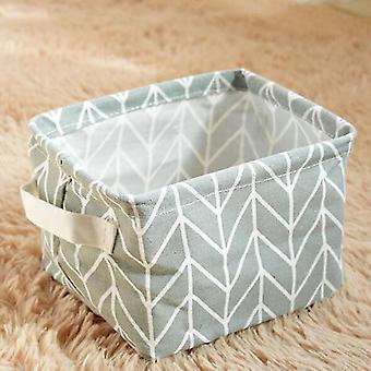 Multi functional cotton linen storage basket for home decor(Light Gray)