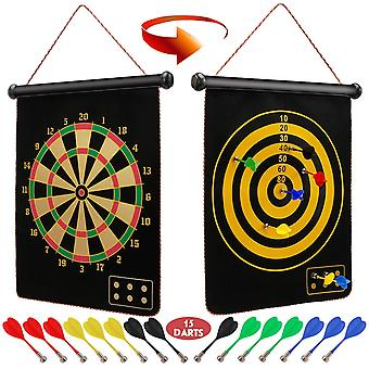 Magnetic Dart Board For Kids And Adults, Double Sided Board Games Set