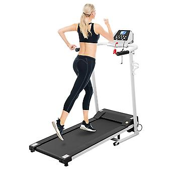 Besportble Motorized Treadmill 1.5hp Electric Treadmill 12 Built-in Programs Folding Treadmill 1-10 Km/h Adjustable Household Running Machine With Lcd