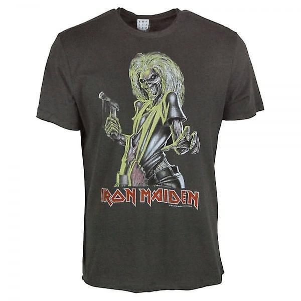 Amplifié Mens Iron Maiden tueurs T Shirt Charcoal