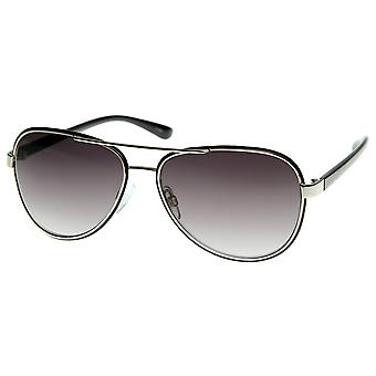 Optical Quality Eyewear Nouveau Metal Crafted Aviator Sunglasses