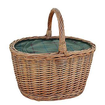Oval Wicker kosár cipzáras Cooler Bag