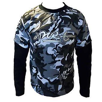 Jungen Doppel Schicht Army Fleece-Sweatshirt Top