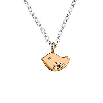 Bird - 925 Sterling Silver Plain Necklaces - W27855X