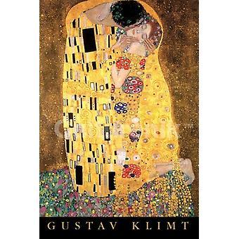 Климт поцелуй Плакат Плакат Печать