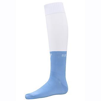2016-2017 Lazio Home Macron Socks (White-Blue)