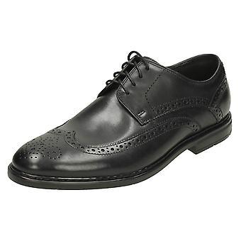 Mens Clarks Formal Brogues Banbury Limit - Black Leather - UK Size 9.5G - EU Size 44 - US Size 10.5M