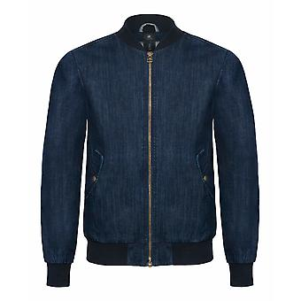 B&C Denim Mens Supremacy Denim Bomber Jacket