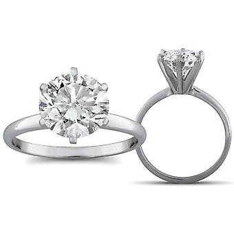 2 1/2ct Diamond Solitaire Engagement Ring 14K White Gold