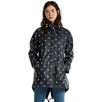 Joule donna/Womens Mistralprint gomma impermeabile Parka giacca cappotto