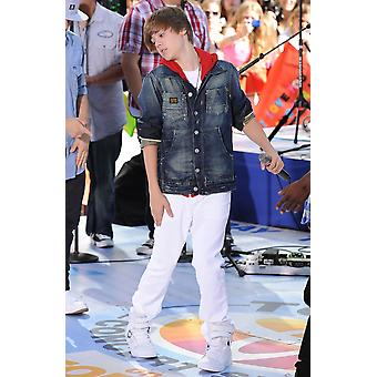 Justin Bieber On Stage For Nbc Today Show Concert With Justin Bieber Rockefeller Plaza New York Ny June 4 2010 Photo By Kristin CallahanEverett Collection Celebrity