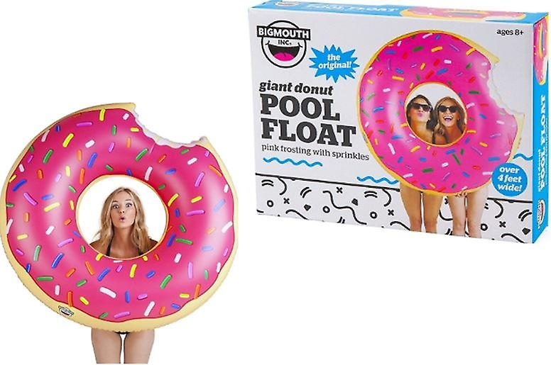 BigMouth Inflatable Giant Pink Frosted Donut Pool Float Beach Holiday Swimming Lounger Water Beach