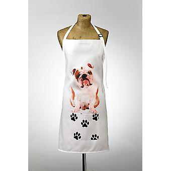 Adorable british bulldog design apron