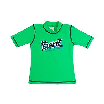 Banz Kids UV Short Sleeved Rash Top - Lime Green