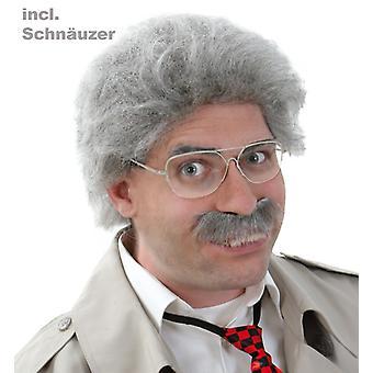 Horst de la perruque avec messieurs de comédie de moustache