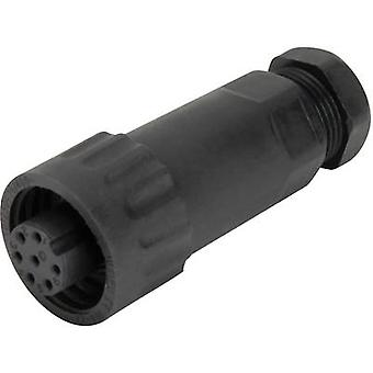 Weipu 814088 Bullet connector Socket, straight Series (connectors): WA Total number of pins: 6 + PE 1 pc(s)