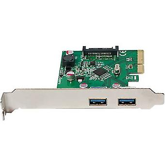 LogiLink PC0080 2 porte USB 3.1 scheda controller USB tipo A PCIe